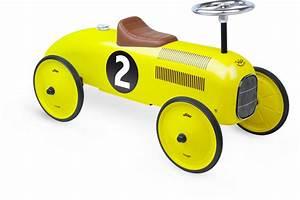 Voiture Enfant Vintage : porteur voiture vintage jaune vilac ~ Teatrodelosmanantiales.com Idées de Décoration