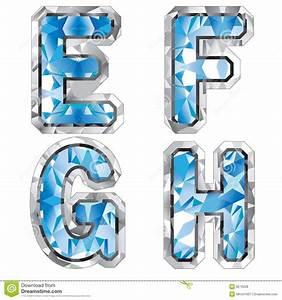 gem letter e f g h stock illustration image of clip With gem letters