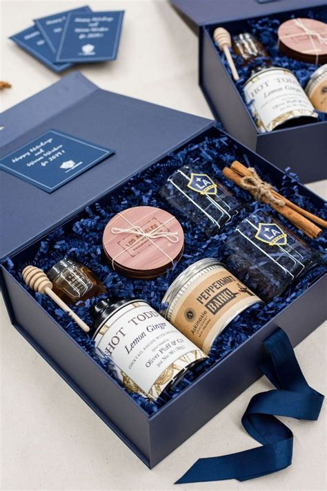 corporate gifts ideas client gifts navy  kraft