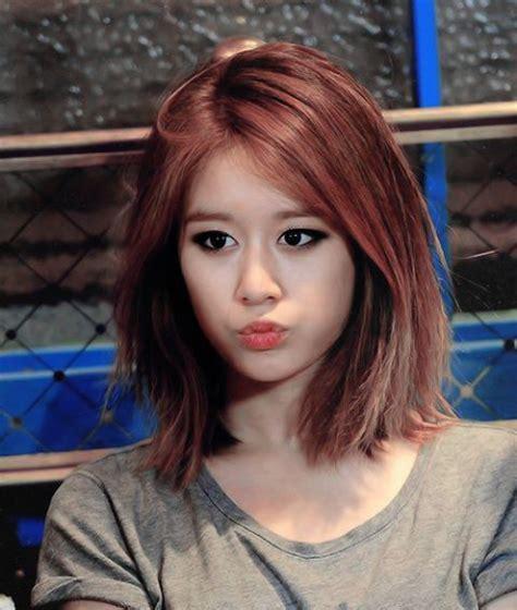 t ara jiyeon s lob hairstyle kpop korean hair and style