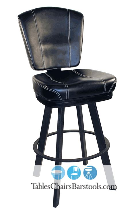 gladiator commercial black modern bar stool w