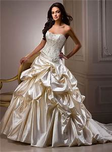 champagne wedding dresses dressed up girl With champagne colored wedding dress