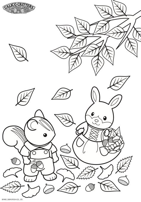 coloring pages  calico critters  kids  funcouk