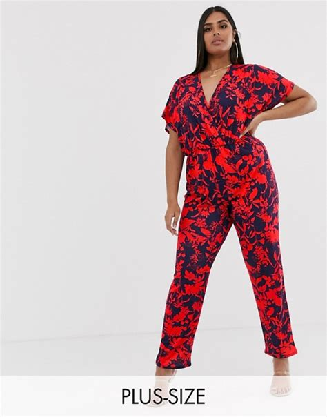 pink clove kimono sleeve jumpsuit in bright floral asos
