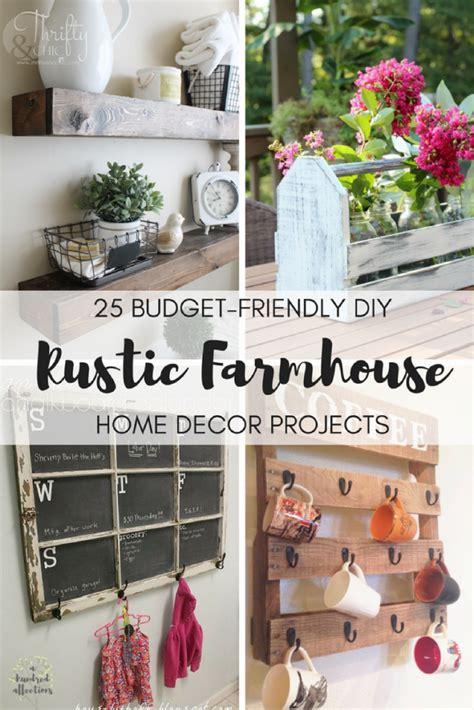 25 Budgetfriendly Diy Rustic Farmhouse Home Decor