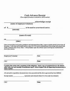 cash advance receipt free download With cash advance policy template