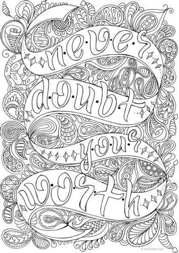 doubt  worth coloring pages inspirational  adult coloring pages printable