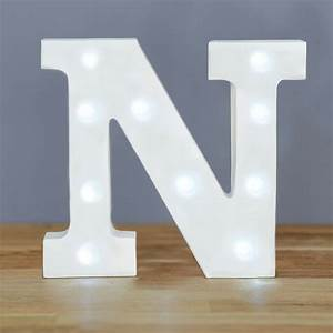 light up letter n home decor barbours With lighted letter n