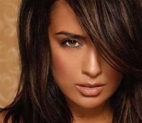hair color ideas  brunettes funky  highlights