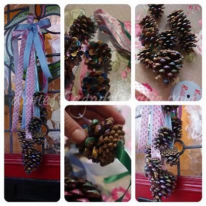 Pine Door Cone Hanging Crafts Domesticgoddesque Painted