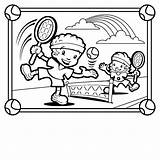 Coloring Pages Tennis Sports Playing Printable Children Sandbox Template Print Popular Comments sketch template