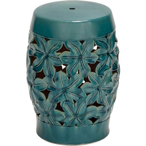 ceramic aqua stool or as a side table interesting