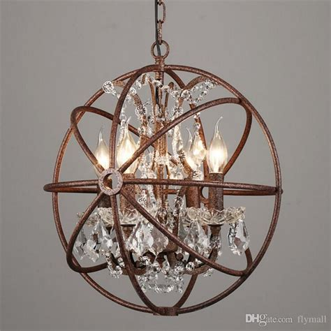country hardware vintage orb crystal chandelier lighting