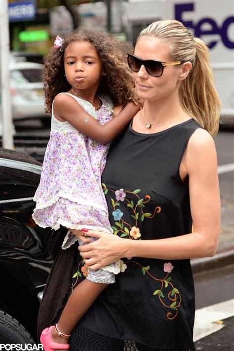 Heidi Klum Carried Her Daughter Lou Samuel While Shopping