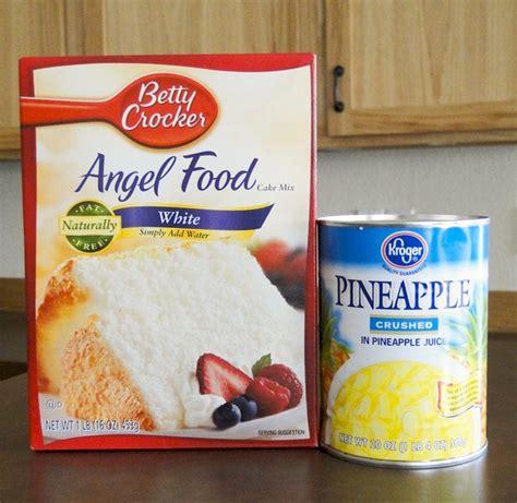 pineapple angel food cake  ingredients  frugal girls
