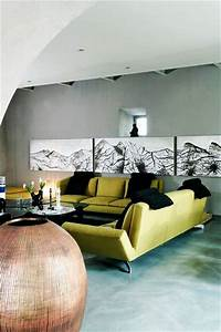 tendance salon osez le vert dans votre salon 7 photos With tapis de yoga avec canape vert emeraude