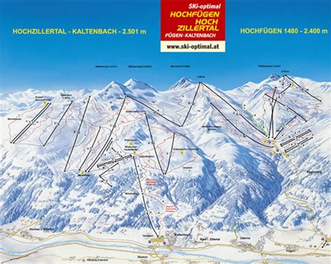 wintersport zillertal pistenplan zillertal ski panorama