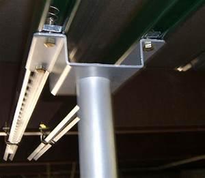 ceiling mount in unfinished basement floor joists With unistrut floor mount