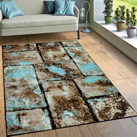 rug stone  brown blue rug