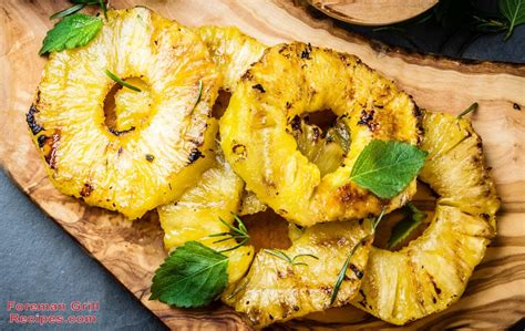 easy grilled pineapple   george foreman grill recipe