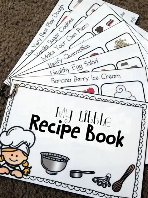 recipe book printable hs life skills