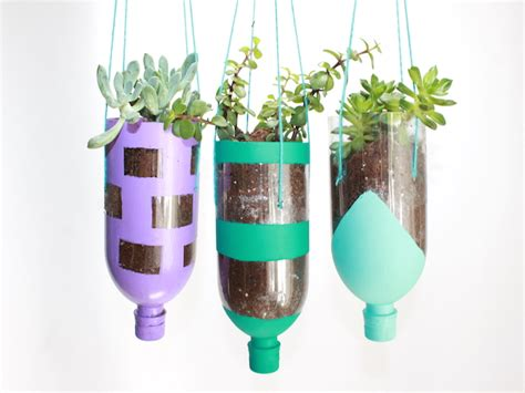 hanging planters  recycled water bottles