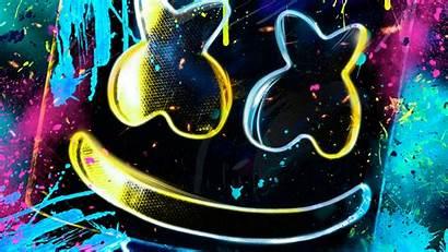 Marshmello Dj Neon Colors 4k Ultra Colores