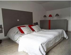 deco chambre tete de lit peinture gris anthracite coussin With commentaire faire couleur taupe 2 gris anthracite ou taupe quelle peinture choisir pour