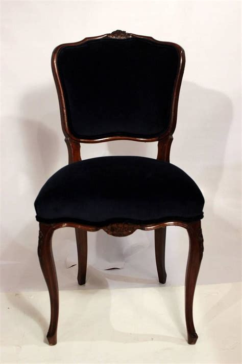 dining room chairs  navy velvet  damask fabric