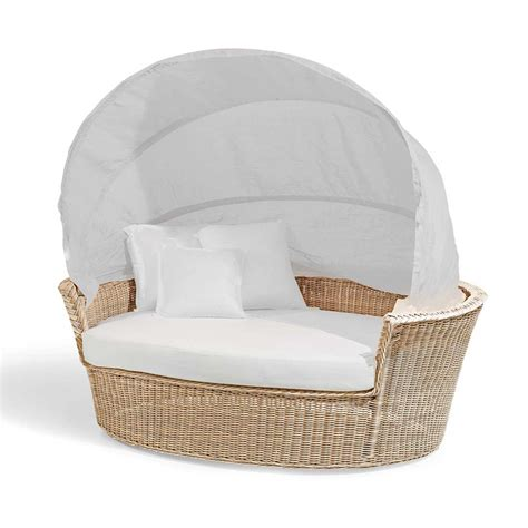 canapé tressé canapé lit de jardin hector tressé à la de design