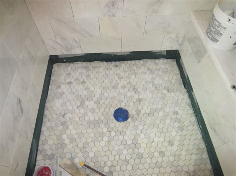 small bathroom tiling ideas marble carrara tile bathroom part 5 installing the shower