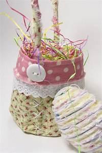 Handmade Fabric Easter Basket & Chenille Egg, Holiday Home