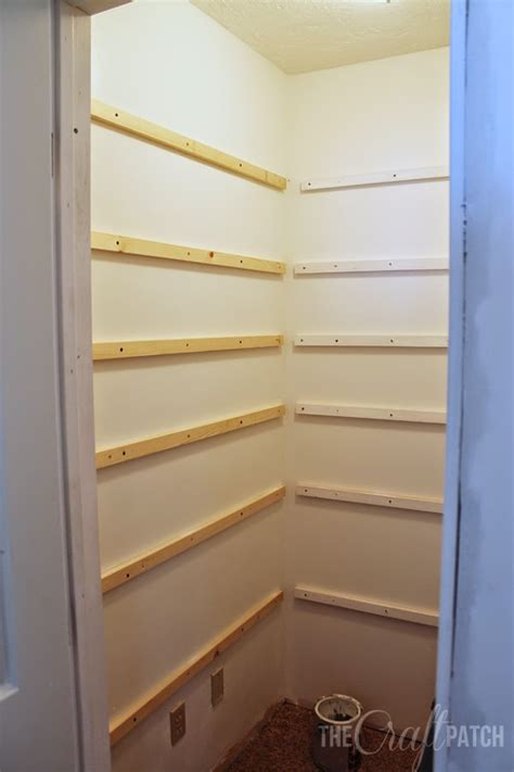 How To Make A Pantry Out Of A Bookcase by How To Build Pantry Shelving Thecraftpatchblog