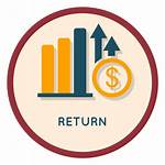 Return Icon Investment Clipart Dividend Rate Inversion