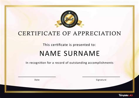 free certifications 30 free certificate of appreciation templates and letters