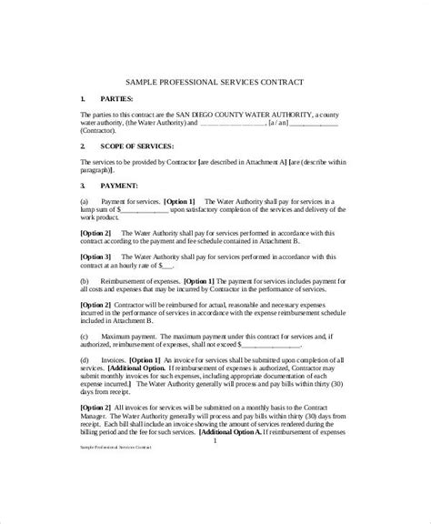 standard service contract templates word docs