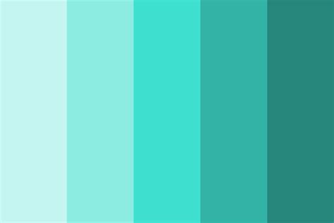 Color Schemes Aqua by Tones Of Turquoise Color Palette