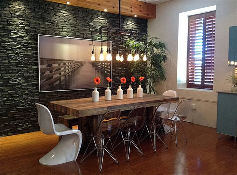 lucite chairs ikea 30 ways to create a trendy industrial dining room