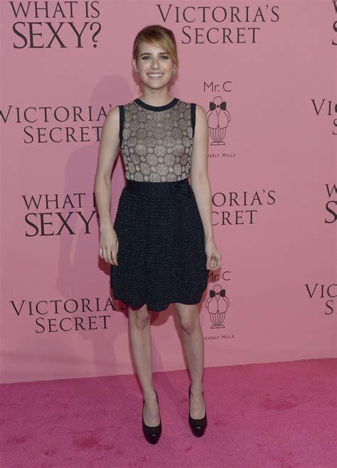 EMMA ROBERTS at Victoria's Secret Angels Reveal What's ...