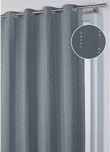 Rideau Bleu Gris : rideau jacquard obscurcissant gris bleu taupe homemaison vente en ligne rideaux ~ Teatrodelosmanantiales.com Idées de Décoration