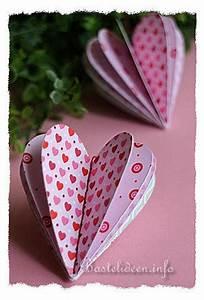 Coole Sachen Basteln : basteln zum valentinstag 3d scrapbookpapier herz ~ Markanthonyermac.com Haus und Dekorationen