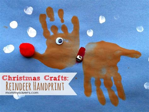 fun activities for kids christmas handprint reindeer http