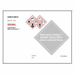 ultraduty ghs chemical labels predesign templates averycom With ghs label template excel
