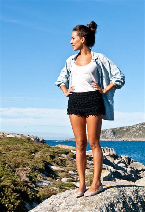 pattern idea fashionable and feminine outfit ideas with crochet shorts