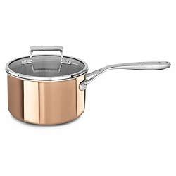 kitchenaid tri ply copper  piece cookware set sams club