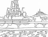 Coloring Disney Pages Kingdom Magic Mountain Castle Disneyland Space Cartoon Dream Onlycoloringpages Travel Animal sketch template