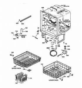 Body Parts Diagram  U0026 Parts List For Model Gsd3735d01ww Ge