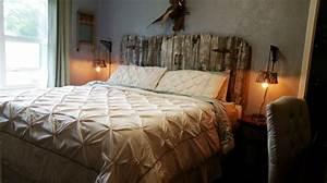 Tete De Lit Bois Vieilli : t te de lit en bois cerus pour un aspect l gant vintage ~ Teatrodelosmanantiales.com Idées de Décoration