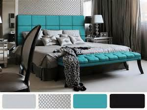 Turquoise White and Gray Bedroom Ideas