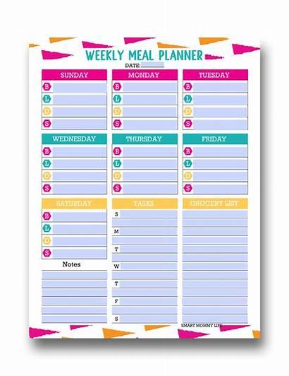 Meal Planner Editable Printable Template Planning Weekly